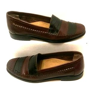 Giorgio Brutini La Glove Brown Leather Loafers